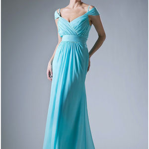 Mint Sleeveless Bridesmaid long Dress